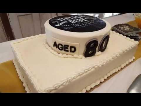 Big Daddy Cakes 80th Birthday Cake 2017