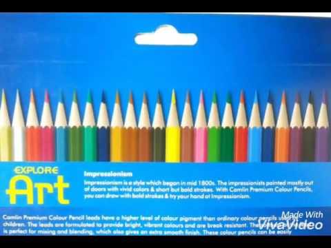 Camlin Premium Color Pencils Swatches Youtube - Premium-color-pencils