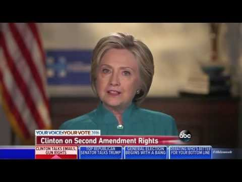 Hillary Clinton won't say whether right to bear arms is a constitutional right