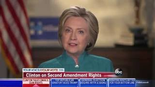 Hillary Clinton won't say whether right to bear arms is a constitutional right thumbnail