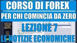 Come Trovare le Notizie Economiche  - Corso di Forex per Principianti - Lezione 7