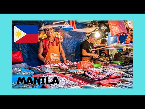 The graphic Plaza Santa Cruz market, MANILA (Philippines)