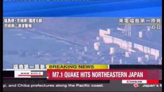 New 7.1 Magnitude Aftershock Earthquake in Northeastern Japan update.flv
