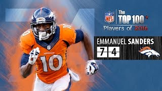 #74: Emmanuel Sanders (WR, Broncos) | Top 100 NFL Players of 2016