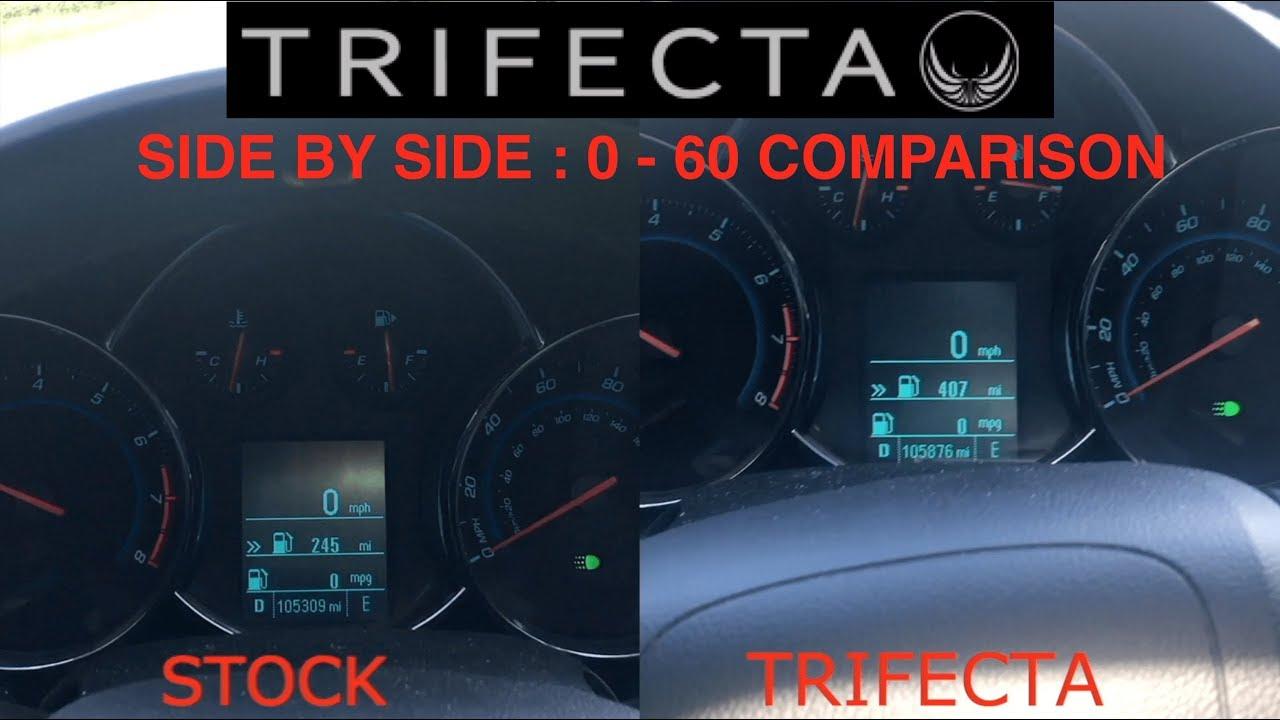 Chevy Cruze 14 Turbo Trifecta Tune Vs Stock 0 60 Youtube