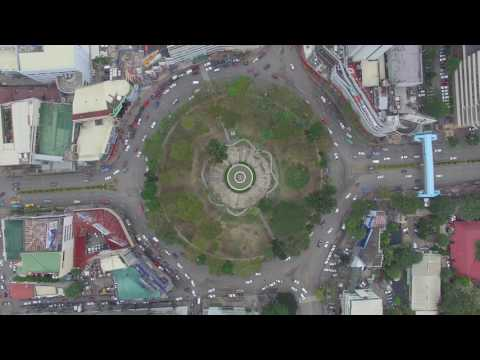 Cebu Traffic Drone Shot - Fuente Osmeña - February 20, 2017 3:45 - 4:30