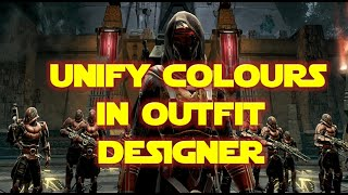 How To Unify Colours In The Outfit Designer