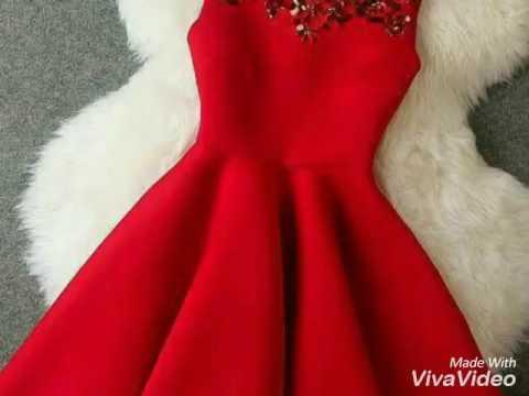 fd73e0b019cbc فساتين سهرة باللون الاحمر red dresses 2016 -2017 - YouTube