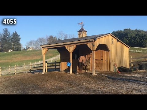 Customer Testimonial 12x20 Shedrow Barn With 8 Overhang