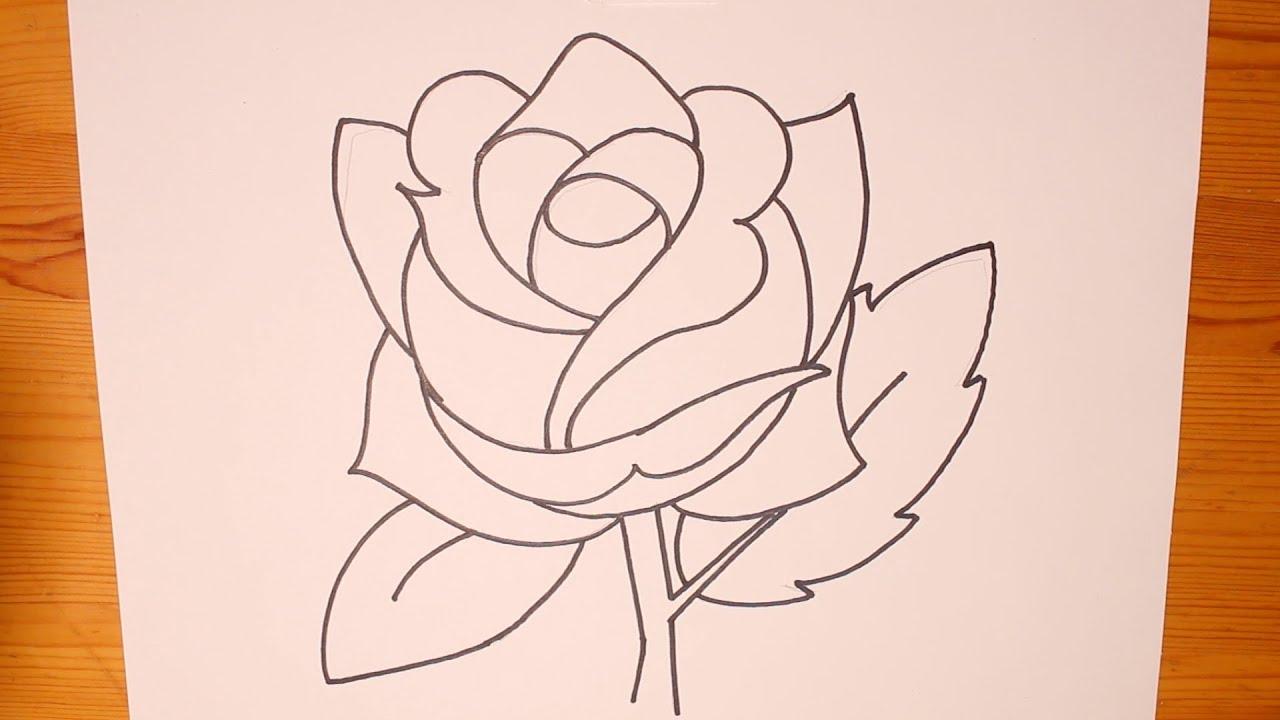 Uncategorized Beginner Pictures To Draw how to draw a basic rose itsadraw easybeginner youtube easybeginner