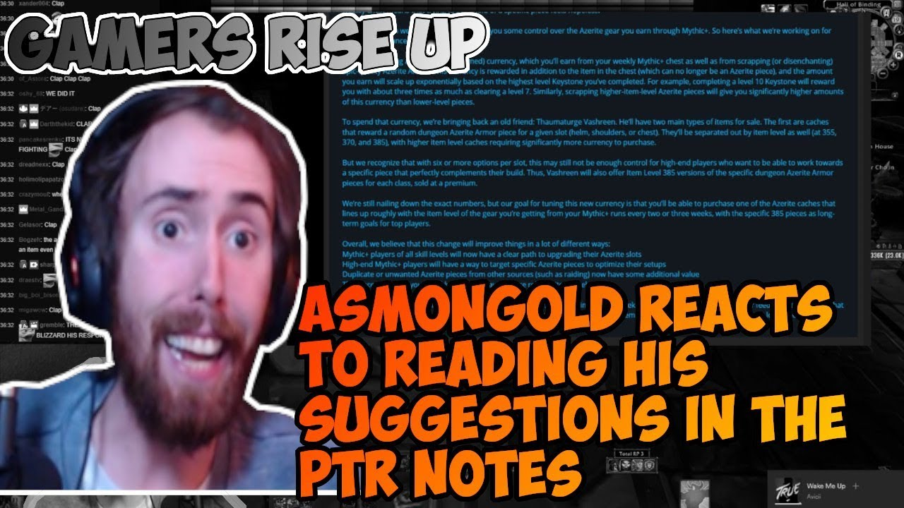Asmongold and Mcconnellret reacts to Azerite and Mythic+ changes in 8 1!