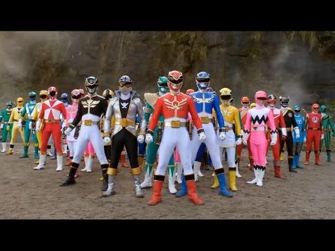 Encontro de todos os Rangers - Power Rangers - HD