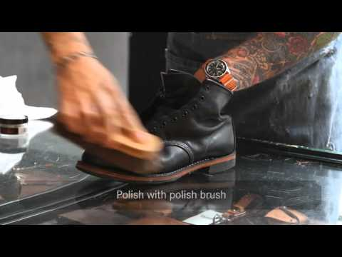 600367b604f Red Wing Shoes Amsterdam — Shoe Care - YouTube