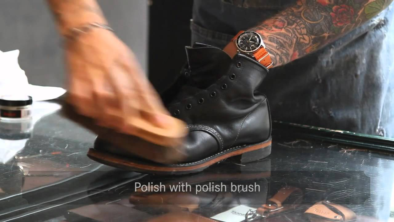 Red Wing Shoes Amsterdam — Shoe Care - YouTube
