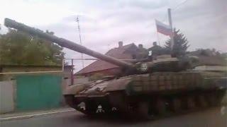 В Донецк приехала колонна танков под российским флагом
