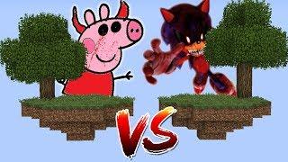 ILHA DA PEPPA PIG.EXE VS ILHA DO SONIC.EXE NO MINECRAFT! QUEM GANHOU  ?