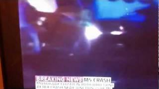 M5 crash Multiple vehicles ( UK ) 4/11/2011