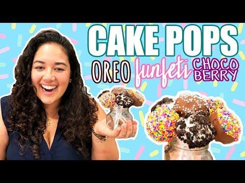 ¿CÓMO HACER CAKE POPS? | Oreo, Funfeti y ChocoBerry | Andrea Cevallos