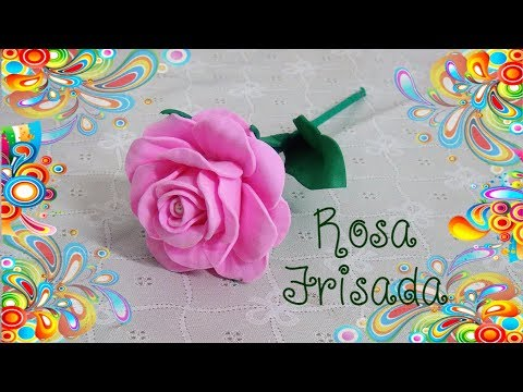 Rosa de EVA Frisada com Garfo - DIY