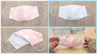 How to make double sided face mask with 2 fabric patterns DIY