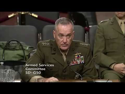 General Dunford gives answers about Syria to the Senate Armed Services Committee