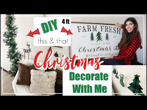 FARMHOUSE CHRISTMAS DECORATE WITH ME / Farmhouse Christmas DIYs / Momma From Scratch