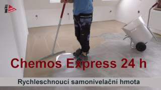 Podlaha za 24 hodin. Jak rychle znivelovat podklad Chemos Express 24H