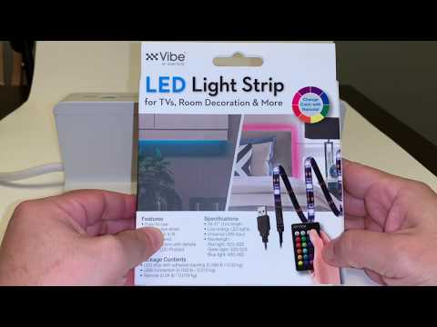 Vibe USB LED Light Strip Review - Only $5.00 at Five Below !