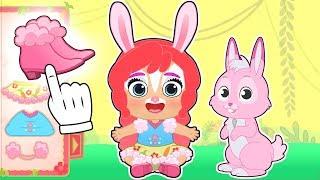 BEBE LILY y RUBY 🐰 Disfraz de Bree Bunny y Twist de Enchantimals | Dibujos animados infantiles