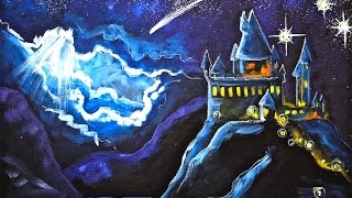 Hogwarts Castle  Acrylic Painting on Canvas for Beginners Angelooney