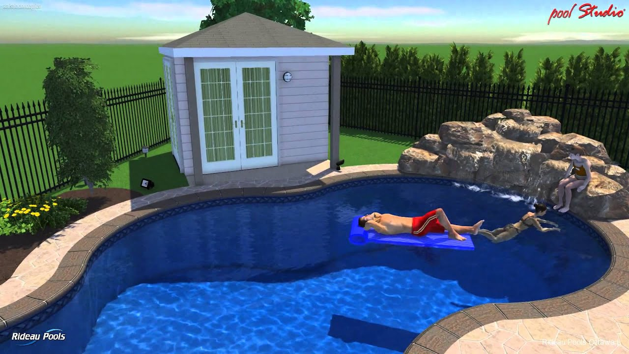 Rideau pools ottawa 3 d design 16 x 32 affinity pool for Pool design ottawa