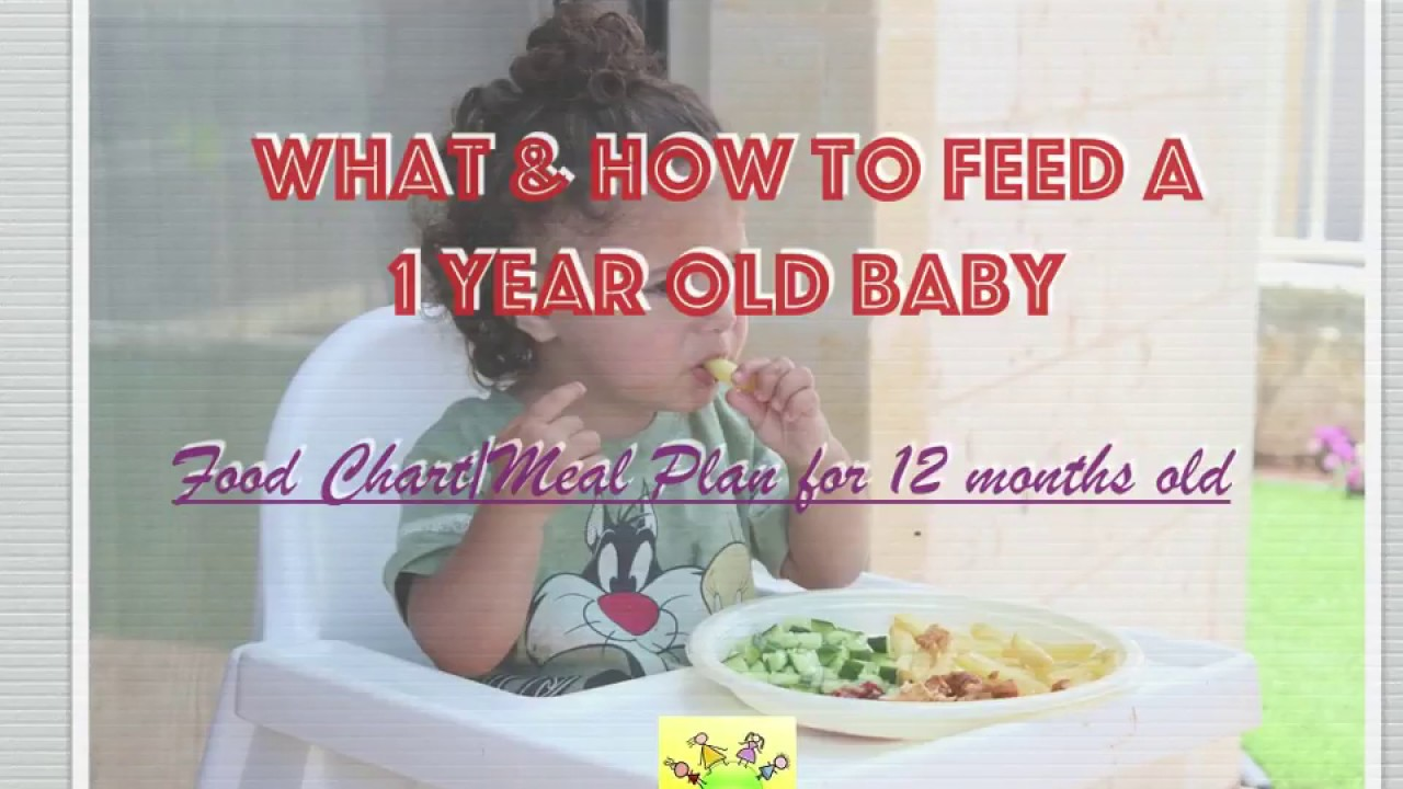 Food Chart for 1 year old baby/ Meal Plan for 12 months old baby