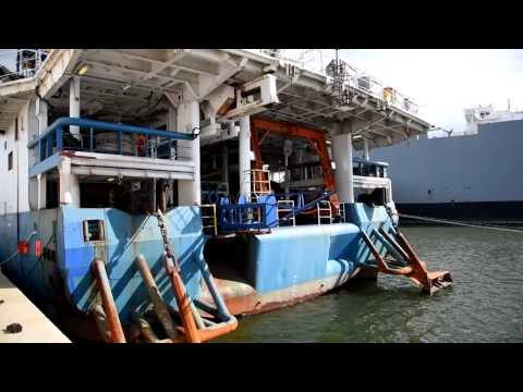 Ship Prepares to Survey for Offshore Wind Turbine Locations