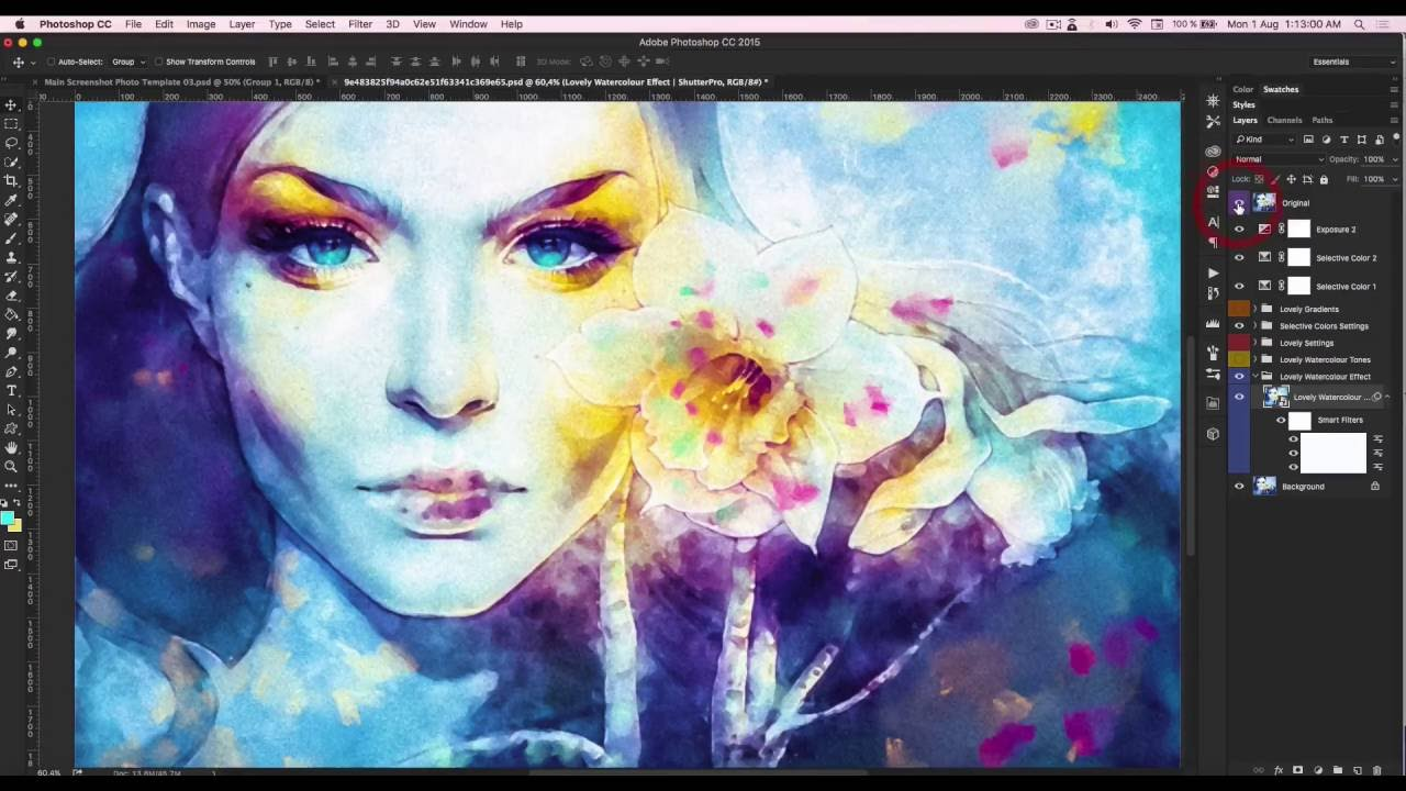 Watercolor art history brush cs6 - How To Use The Lovely Watercolor Effect Smudge Brushes Shutterpro