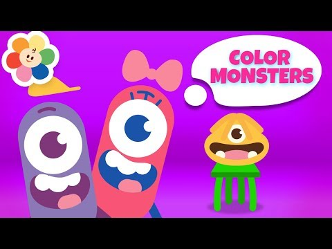 Learn Colors With Color Monsters - New Episodes | Funny Cartoons for Children |  Colors Songs