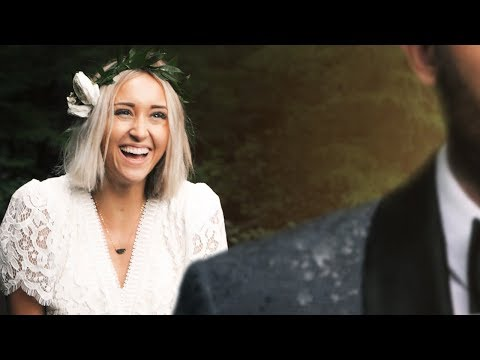 Fairytale WEDDING DRESS REVEAL in the RAIN! // How to Film a First Look!