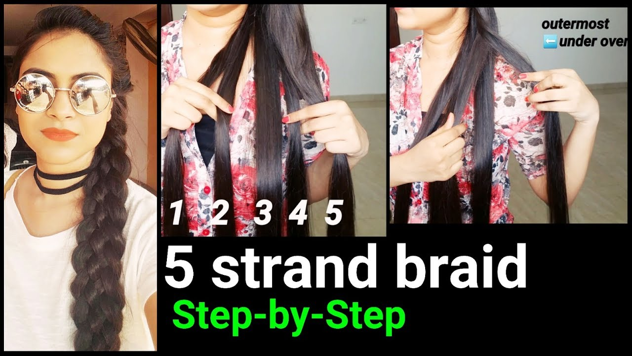 5 strand braid(step-by-step)//indian hairstyles for long hair for summers