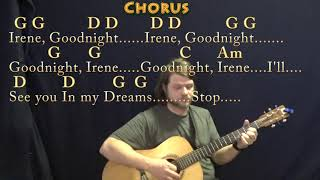 Goodnight, Irene (Traditional) Guitar Lesson Chord Chart in G with Chords/Lyrics