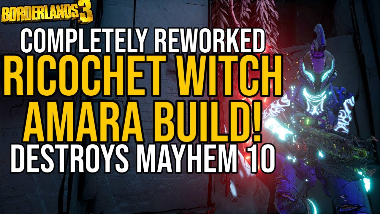 AMARA CRUSHES MAYHEM 10 (+GAMESAVE!) // Ricochet Witch Amara Build! // Borderlands 3 thumbnail