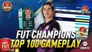 FIFA18 FUT CHAMPIONS TOP 100 GAMEPLAY!! MATCHING UP AGAINST A PRO FOOTBALLER!!!