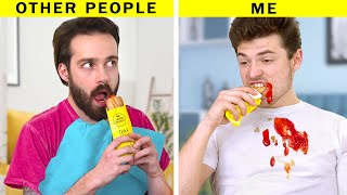 Other People vs Me / 25 Awkward Situations That Everyone Can Relate To