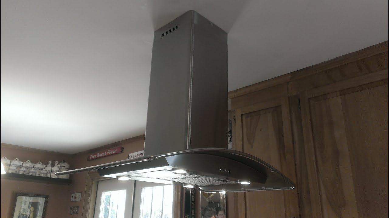 Kitchen Hood How To Install A Peninsula Kitchen Hood Youtube