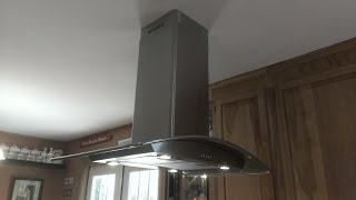 How to install a peninsula kitchen hood