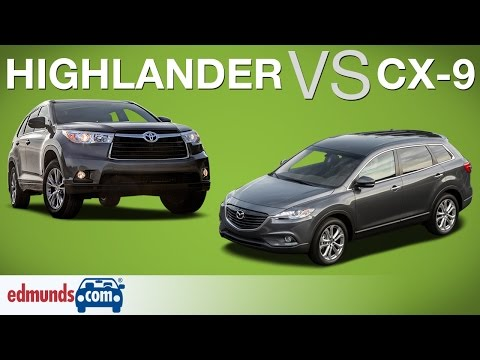 Toyota Highlander vs Mazda CX 9 Edmunds A Rated Crossover SUVs Face Off