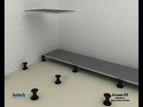 Suelo tecnico elevado para exteriores porcelanosa grupo butech building technology s a - Suelo tecnico exterior ...