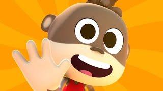 Five Little Monkeys | Baby Music & More Cartoon Songs for Children