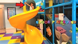 Indoor Playground for kids! family fun Play area with slide