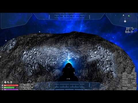 How To Mine Asteroid In Space With Drill Turret From Capital Vessel | Empyrion Alpha 6