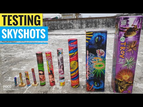 10 Different types of skyshots testing 2019/Crackers testing