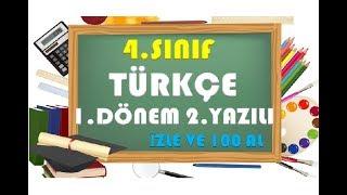 4.Sınıf Türkçe 1.Dönem 2.Yazılı Hazırlık 2-Yardımcı Öğretmen Video